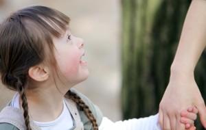 Stock image- girl holding hand