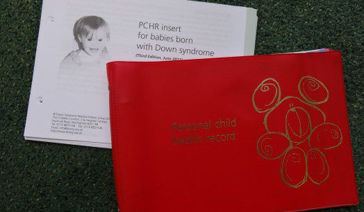 PCHR insert for babies and children with Down's syndrome